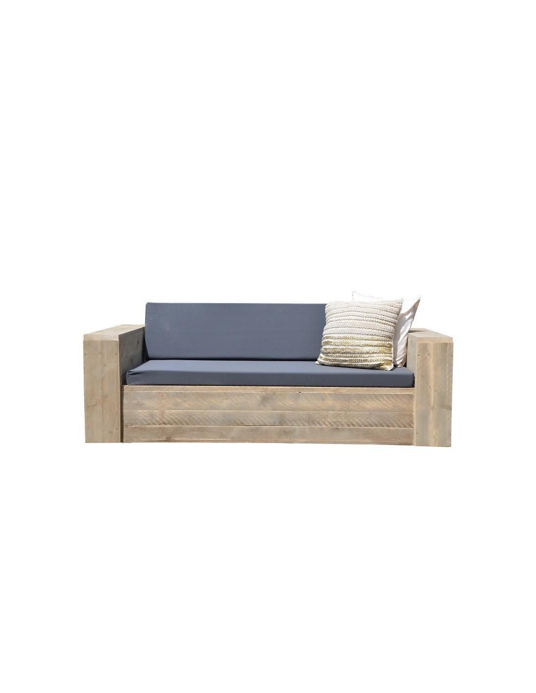 Industri le tafel met steigerhouten blad sanderswoodworks - Tafel met chevet ...