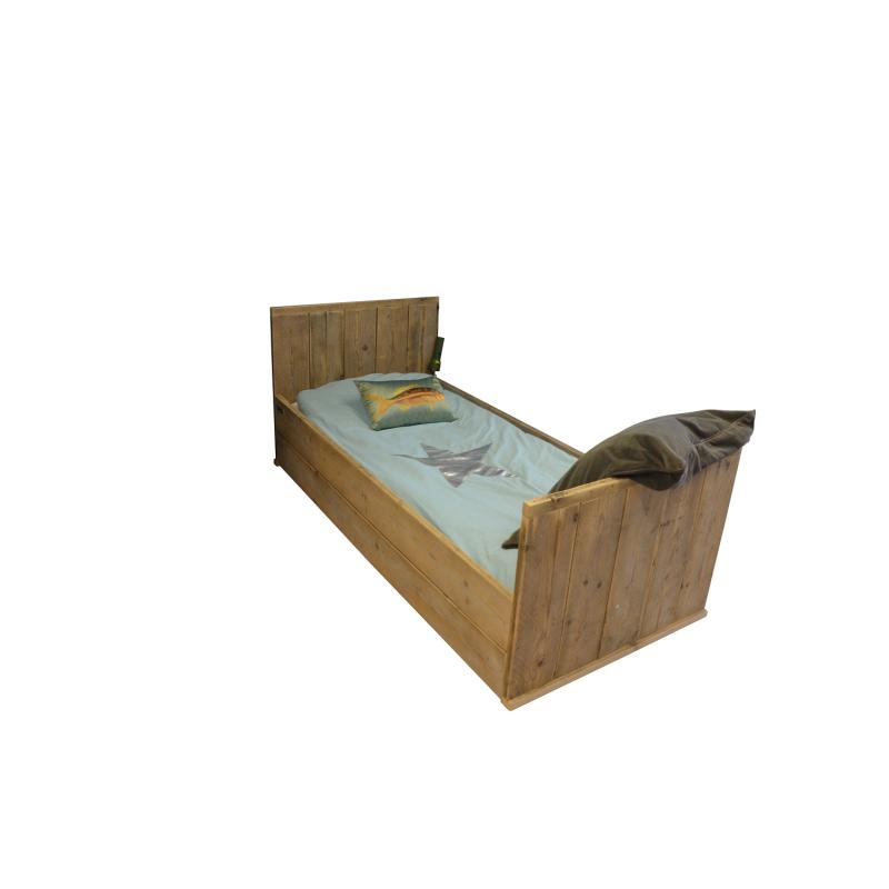 Wood4you - Eenpersoonsbed steigerhout...